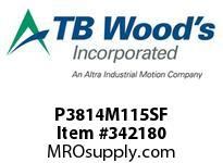 TBWOODS P3814M115SF P38-14M-115-SF SYNCH SPROCK