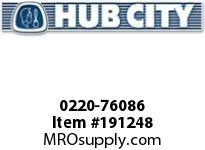 HUBCITY 0220-76086 SS324 30/1 A WR 143TC SS WORM GEAR DRIVE