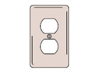 HBL-WDK NP8OR WALLPLATE1-G DUPLEX NYL ORANGE