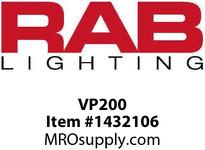 RAB VP200 VAPORPROOF 200 PENDANT 1/2 WITH GLASS GLOBE