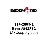 REXNORD 114-2809-2 RETAIN RING SS FOR 3/8IN