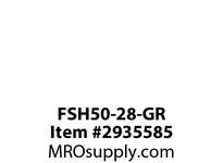 TBWOODS FSH50-28-GR CPLG W/3.75 NO KW STL HUB JGR