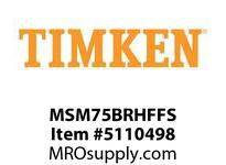 TIMKEN MSM75BRHFFS Split CRB Housed Unit Assembly