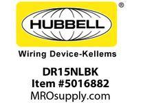 HBL_WDK DR15NLBK TAMP RES DECO FACE NL 5-15R BK