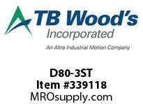 TBWOODS D80-3ST STEEL HUB ROUGH BORE