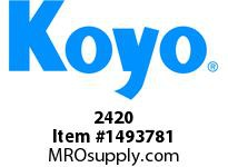 Koyo Bearing 02420 TAPERED ROLLER BEARING