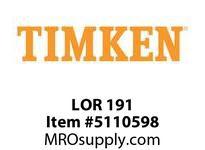 TIMKEN LOR 191 SRB Pillow Block Component