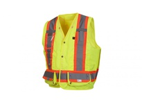 Pyramex RCMS2810FRX5 Hi-Vis Lime with Reflective Tape - Flame Retardant - Size 5X Large