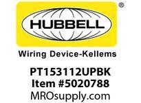 HBL_WDK PT153112UPBK PTRAKNM3 PORT1USB4-15A TR/RECPTBLK