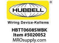 HBL_WDK HBTT0608SWBK WBPRFRM RADI T 6Hx8W BLACKSTLWLL