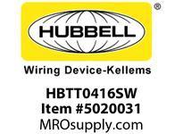 HBL_WDK HBTT0416SW WBWBPRFRM RADI T4HX16WPREGALVSTLWLL