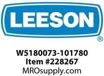 LEESON W5180073-101780 GEARMOTOR-NONSTOCK 194 LB IN @125RPM 50 HP