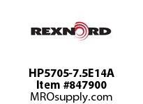 REXNORD HP5705-7.5E14A HP5705-7.5 MTW E18-1/8D