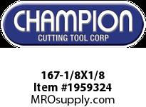 Champion 167-1/8X1/8 4 FL DE SOLID CARBIDE END MILL