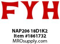 FYH NAP206 18D1K2 PILLOW BLOCK-NORMAL DUTY ECCENTRIC COLLAR-HIGH TEMP CONTACT