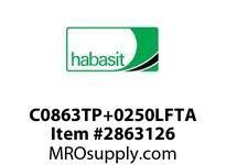 "Habasit C0863TP+0250LFTA 863 Tab 2.5"" Top Plate Low Friction Acetal"