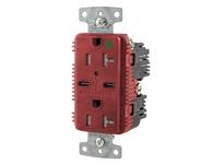 HBL_WDK USB8300C5R RCPT HG DUP 20A 125V 5A 5V USB PORT C R