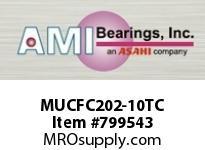 AMI MUCFC202-10TC 5/8 STAINLESS SET SCREW TEFLON PILO CART SINGLE ROW BALL BEARING