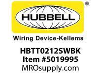 HBL_WDK HBTT0212SWBK WBPRFRM RADI T 2Hx12W BLACKSTLWLL