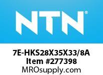 NTN 7E-HKS28X35X33/8A DRAWN CUP NRB(CAGE TYPE)