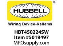 HBL_WDK HBT450224SW WBPRFRM RADI 45 2Hx24W PREGALVSTLWLL