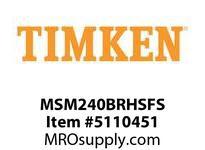 TIMKEN MSM240BRHSFS Split CRB Housed Unit Assembly