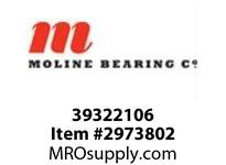 Moline Bearing 39322106 SPLIT E 1000 2-BOLT PILLOW BLOCK 1-3/8 SPLIT E1000 2BPB EXP W/CARTRG ASSY