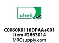 "Habasit C0060K0118DPAA+001 60P 1.18""Acetal White"