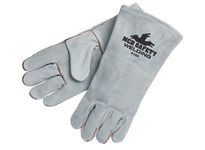 MCR 4150LH Gray Select Split Leather Welder Wing Thumb Left Hand