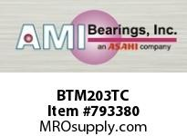 AMI BTM203TC 17MM NARROW SET SCREW TEFLON 3-BOLT BALL BEARING