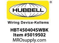 HBL_WDK HBT450404SWBK WBPRFRM RADI 45 4Hx4W BLACKSTLWLL
