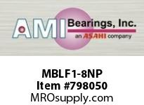 AMI MBLF1-8NP 1/2 STAINLESS NAR SET SCREW NICKEL SINGLE ROW BALL BEARING