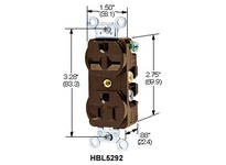 HBL-WDK HBL5392 DUP RCPT 20A 125V 5-20R(CAN) BR