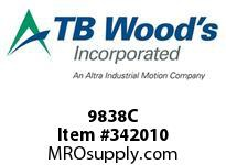 TBWOODS 9838C 9X8 3/8-E CR PULLEY