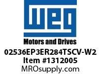WEG 02536EP3ER284TSCV-W2 25HP 3600 3 60 208-230/460V TEFC Epact