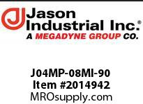 Jason J04MP-08MI-90 ADAPTOR 90* EL M NPT X M JIC