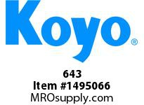 Koyo Bearing 643 TAPERED ROLLER BEARING
