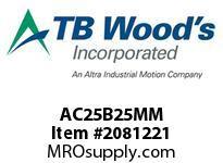 TBWOODS AC25B25MM HUB AC25-25MM DIA NO KW CL B