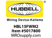 HBL_WDK HBL15FWM2 SINGLE POLE SER 15 FEM PLUG 150A WH