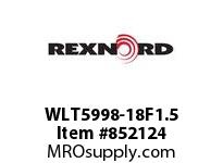 REXNORD WLT5998-18F1.5 WLT5998-18 F1.5 T10P WLT5998 18 INCH WIDE MATTOP CHAIN W