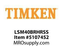 TIMKEN LSM40BRHRSS Split CRB Housed Unit Assembly