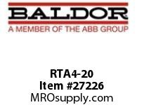 BALDOR RTA4-20 RTA BRK TRANS ASSY 460V 20 OHMS 1