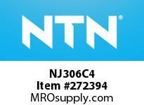 NTN NJ306C4 CYLINDRICAL ROLLER BRG