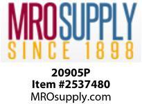 MRO 20905P 3/8OD P-IN X M PLSTC SHUTOFF VLV