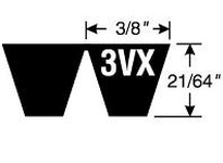 Gates 9388-13040 13/3VX400 Super HC Molded Notch PowerBand Belt