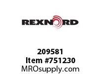 REXNORD 209581 594808 375.S71-8.CPLG STR SD