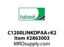 "Habasit C1200LINKDPAA+K2 1200 2"" Pitch Knuckle K2 Link Acetal"