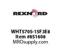 REXNORD WHT5705-15F3E8 WHT5705-15 F3 T8P N1.5 WHT5705 15 INCH WIDE MATTOP CHAIN W