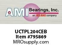 AMI UCTPL204CEB 20MM WIDE SET SCREW BLACK TAKE-UP O ROW BALL BEARING