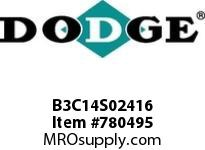 DODGE B3C14S02416 BB383 140-CC 24.16 1^ S SHFT